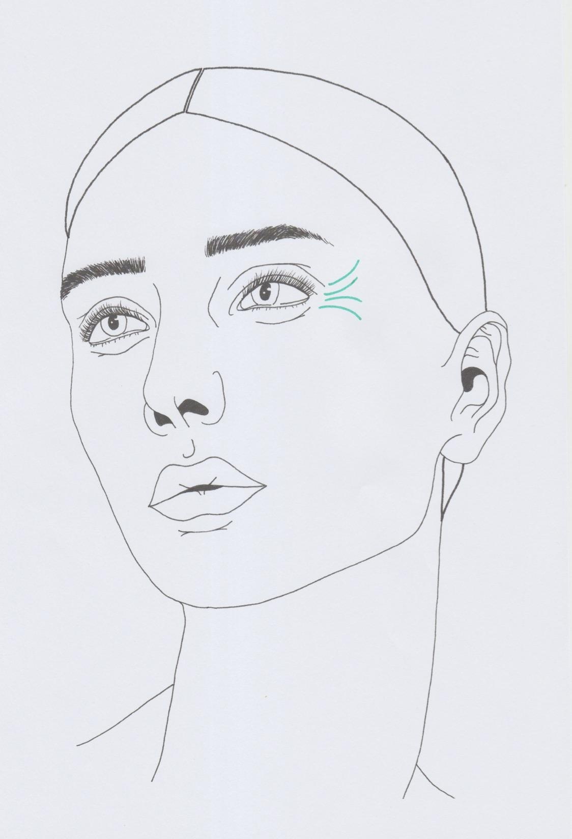 Augenfalten außen
