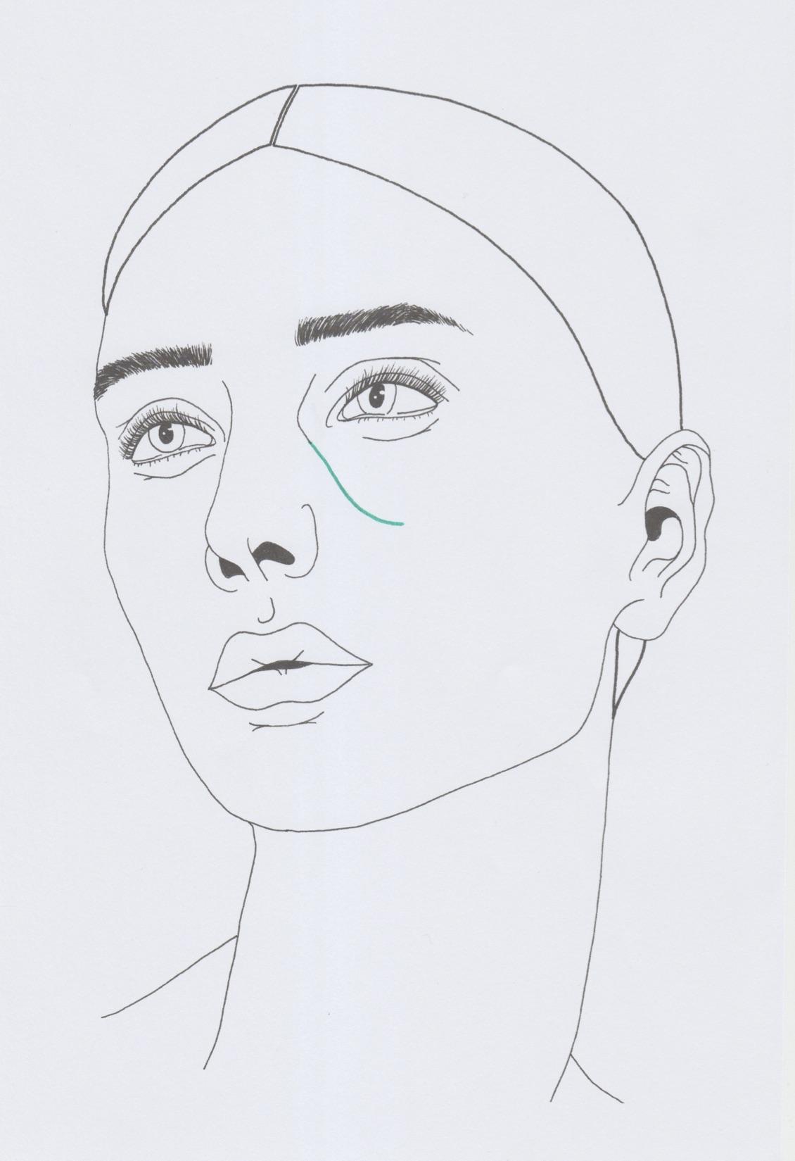 Augenfalten innen
