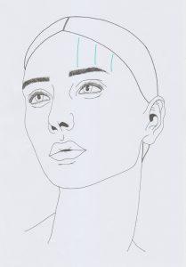Stirnfalten senkrecht